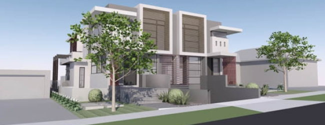 Brighton townhouses – Approved by VCAT mid 2012
